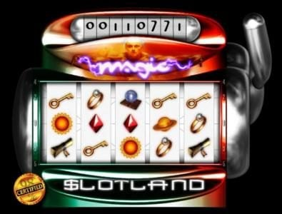 Crypto Slots featuring the Video Slots Magic with a maximum payout of $2,000