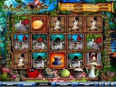 Play Million featuring the Video Slots Magic & Wonders with a maximum payout of $25,000