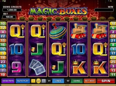 Play slots at Fortune Junction: Fortune Junction featuring the Video Slots Magic Boxes with a maximum payout of $10,000