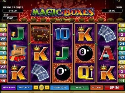 Rich Reels featuring the Video Slots Magic Boxes with a maximum payout of $10,000