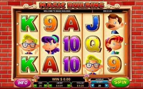 Casino-X featuring the Video Slots Magic Building with a maximum payout of $10,000
