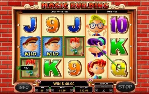 NetBet featuring the Video Slots Magic Building with a maximum payout of $10,000