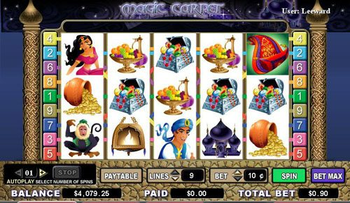 Play slots at Africa Casino: Africa Casino featuring the video-Slots Magic Carpet with a maximum payout of 4,000x