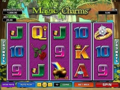 Play slots at Golden Palace: Golden Palace featuring the Video Slots Magic Charms with a maximum payout of $1,200