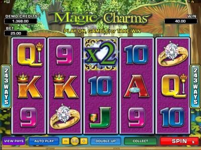Hyper Casino featuring the Video Slots Magic Charms with a maximum payout of $1,200