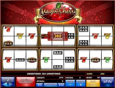 Wicked Bet featuring the Video Slots Magic Cherry with a maximum payout of $81,000