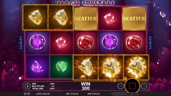 TheBesCasino featuring the Video Slots Magic Crystals with a maximum payout of $6,250