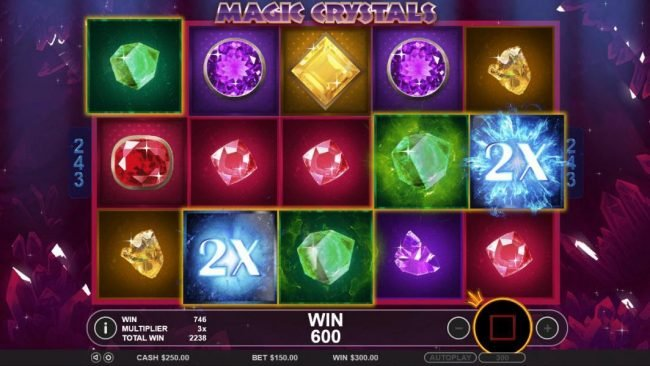 Spiral featuring the Video Slots Magic Crystals with a maximum payout of $6,250