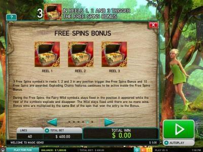 Play slots at Jonny Jackpot: Jonny Jackpot featuring the Video Slots Magic Gems with a maximum payout of $5,000