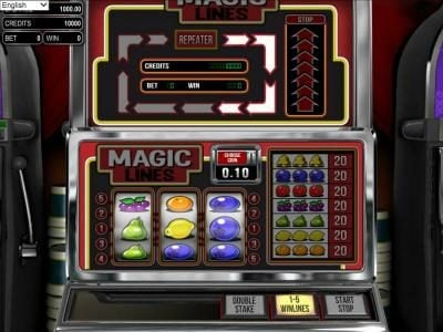 Play slots at Casino Alpha: Casino Alpha featuring the Video Slots Magic Lines with a maximum payout of $800