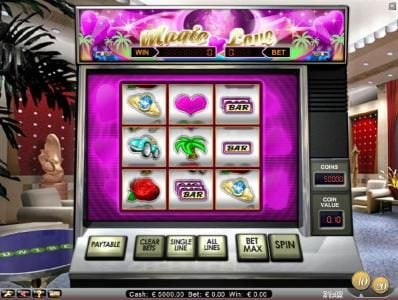 Wixstars featuring the Video Slots Magic Love with a maximum payout of $3,200