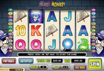 Lincoln featuring the Video Slots Magic Monkey with a maximum payout of $60,000