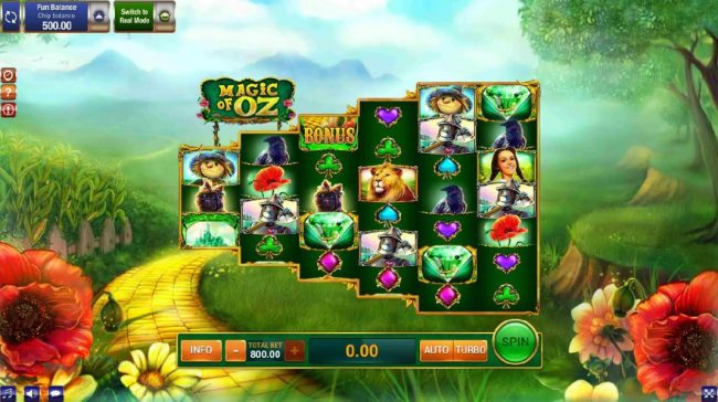 Play slots at Videoslots: Videoslots featuring the Video Slots Magic of OZ with a maximum payout of $9,000