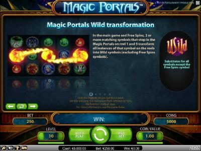 Magic Portals :: wild tranformation feature rules