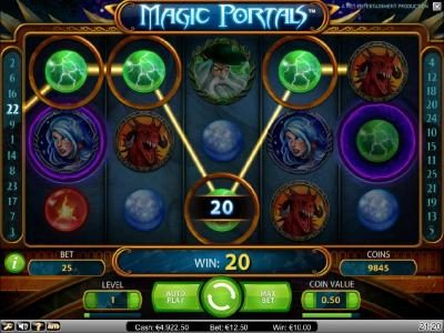 Club Vulkan featuring the Video Slots Magic Portals with a maximum payout of $5,000