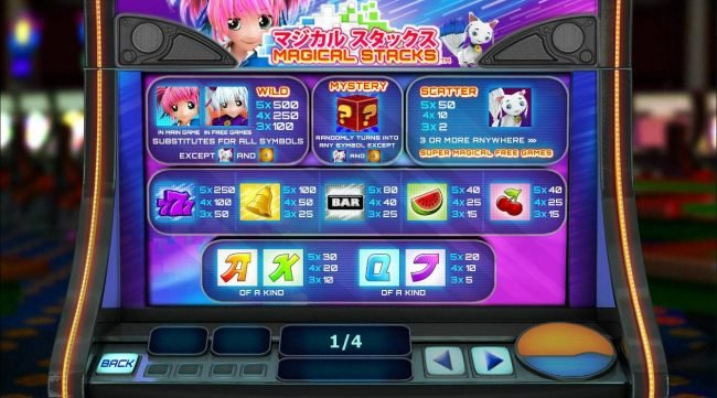 Class 1 Casino featuring the Video Slots Magical Stacks with a maximum payout of $50,000