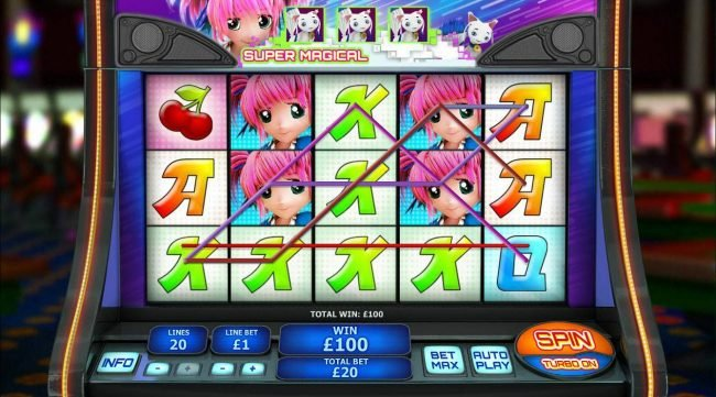 MANSION featuring the Video Slots Magical Stacks with a maximum payout of $50,000