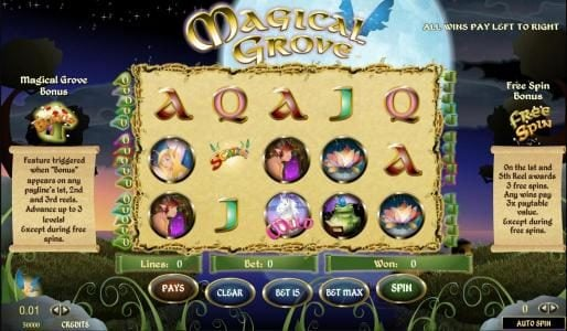 Play slots at Moon Games: Moon Games featuring the Video Slots Magical Grove with a maximum payout of $25,000