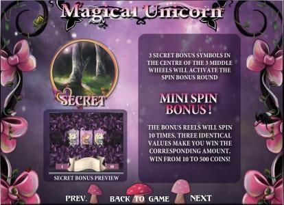 mini spin bonus rules