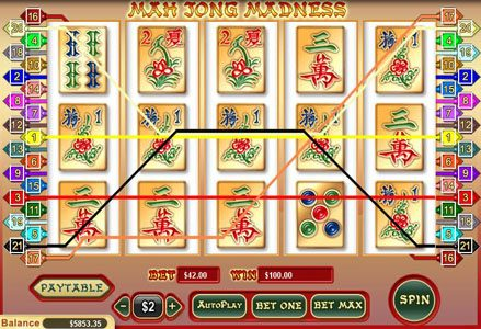 Miami Club featuring the Video Slots Mah Jong Madness with a maximum payout of $25,000