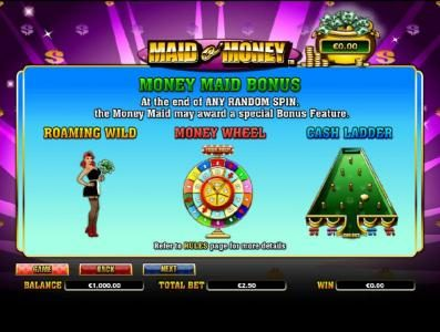 money maid bonus rules