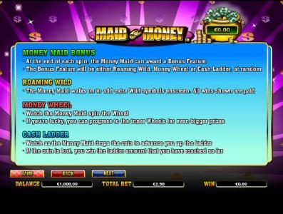 Jackpot Mobile featuring the Video Slots Maid o' Money with a maximum payout of $2,000