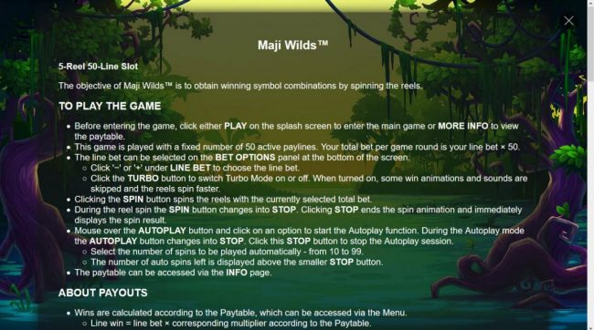Maji Wilds :: General Game Rules