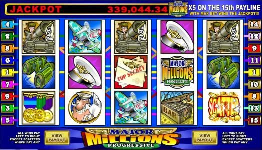 Play slots at Casdep: Casdep featuring the Video Slots Major Millions 5 Reel with a maximum payout of Jackpot