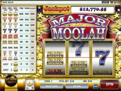 Golden Lion featuring the Video Slots Major Moolah with a maximum payout of $0