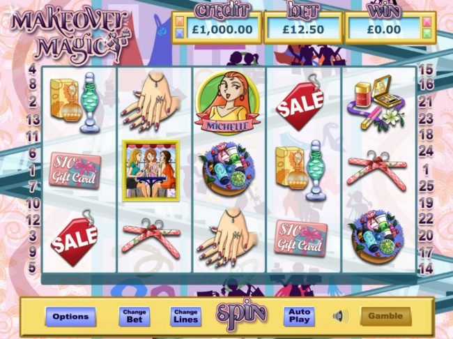 Money Reels featuring the Video Slots Makeover Magic with a maximum payout of $32,000
