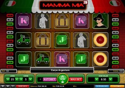 Play slots at Bet Shah: Bet Shah featuring the Video Slots Mamma Mia with a maximum payout of $1,875
