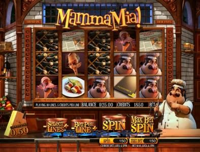 Boo Casino featuring the Video Slots Mamma Mia with a maximum payout of $2,500