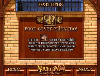 food cover click me feature rules