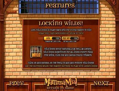 locking wild feaure rules