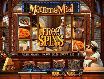 Big Spin featuring the Video Slots Mamma Mia with a maximum payout of $2,500