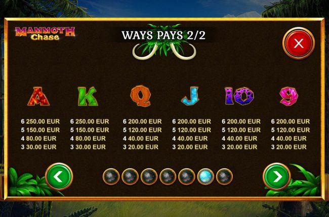 Mammoth Chase :: Low Value Symbols