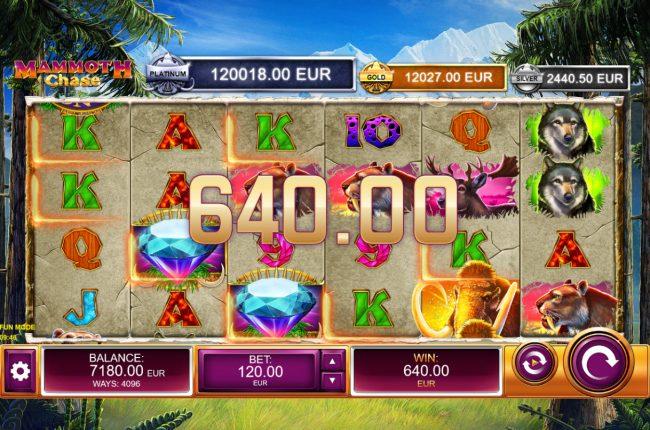 Mammoth Chase :: Multiple winning paylines