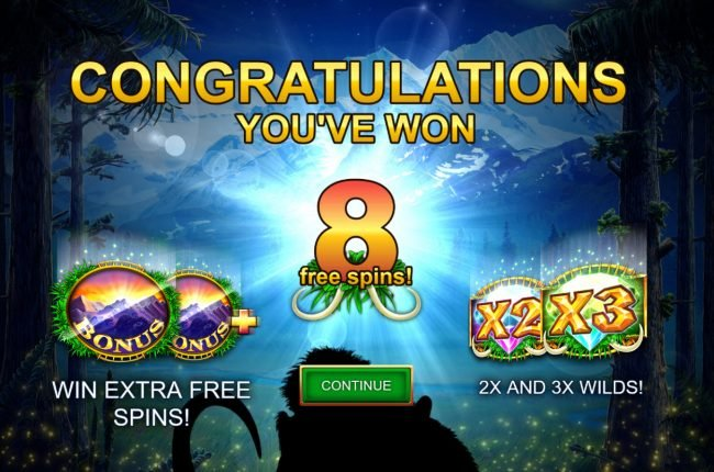 Mammoth Chase :: 8 Free Spins Awarded