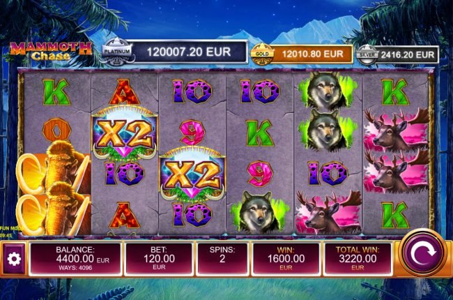 Mammoth Chase :: Free Spins Game Board