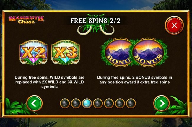 Mammoth Chase :: Free Spins Rules