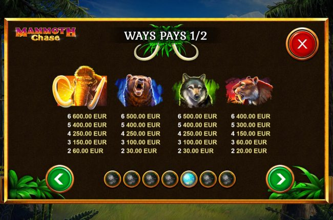 Mammoth Chase :: High Value Symbols