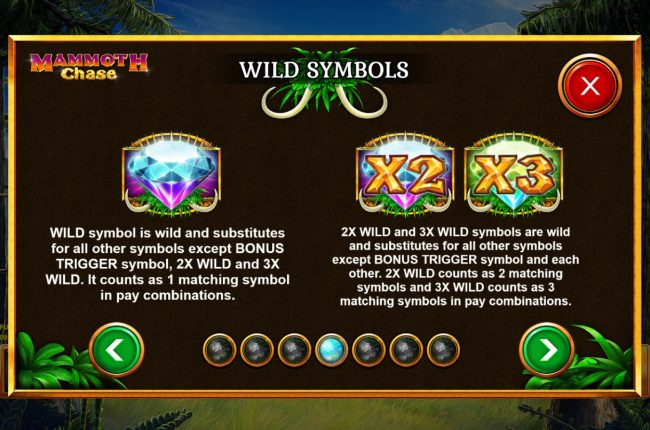 Mammoth Chase :: Wild Symbol Rules