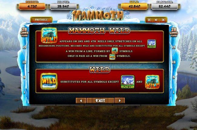 Mammoth :: Wild Symbol Rules
