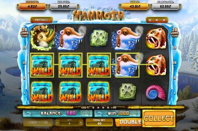 Mammoth :: Multiple winning paylines