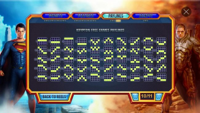 Titanbet.it featuring the Video Slots Man of Steel with a maximum payout of $100,000