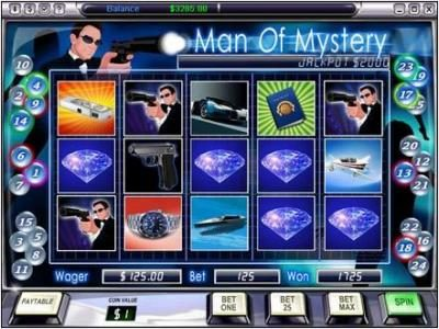 Video Poker Classic featuring the Video Slots Man Of Mystery with a maximum payout of $50,000