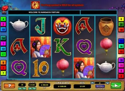 Grand Ivy featuring the Video Slots Mandarin Fortune with a maximum payout of $7,500