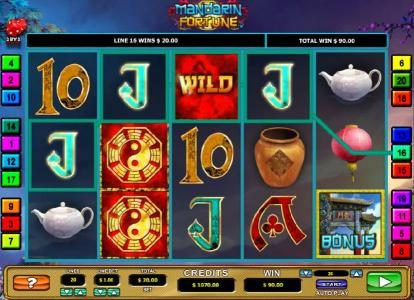 Play Hippo featuring the Video Slots Mandarin Fortune with a maximum payout of $7,500