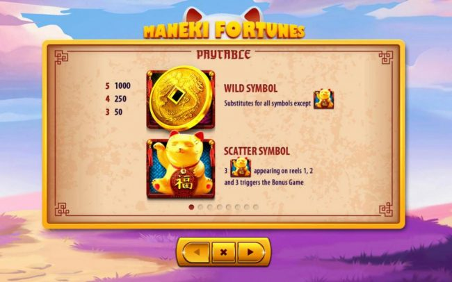 Maneki Fortunes :: Wild and Scatter Symbols Rules and Pays