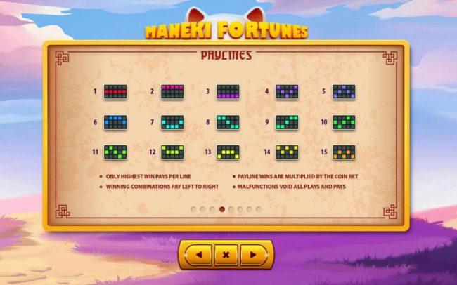 Maneki Fortunes :: Paylines 1-15